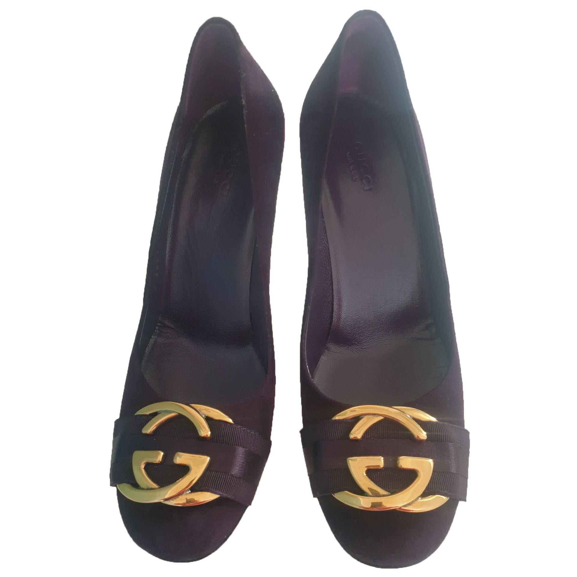 Buty Gucci Gucci Zamszowe Fioletowe 24399